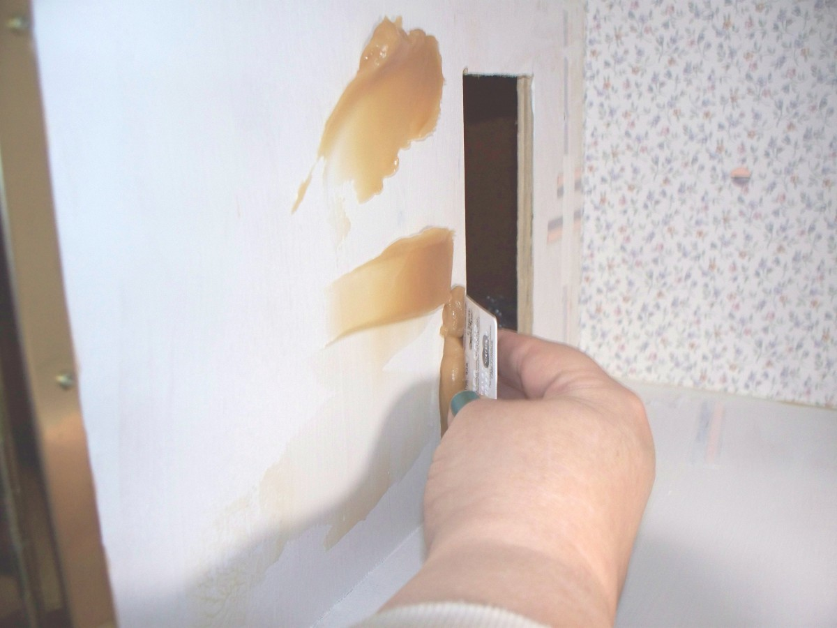 Spreading Wallpaper Paste