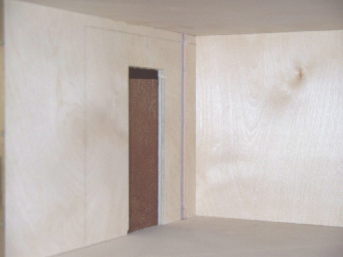 Unprimed Plywood Walls
