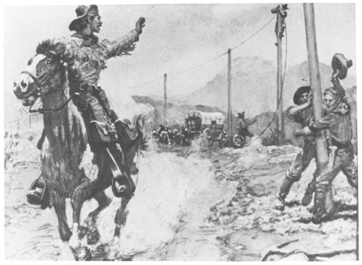 Pony Express History Coloring Pages