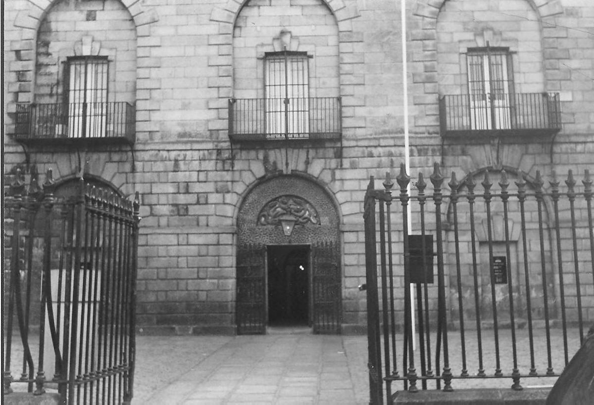 Hanging Balcony at Kilmainham Jail, Dublin