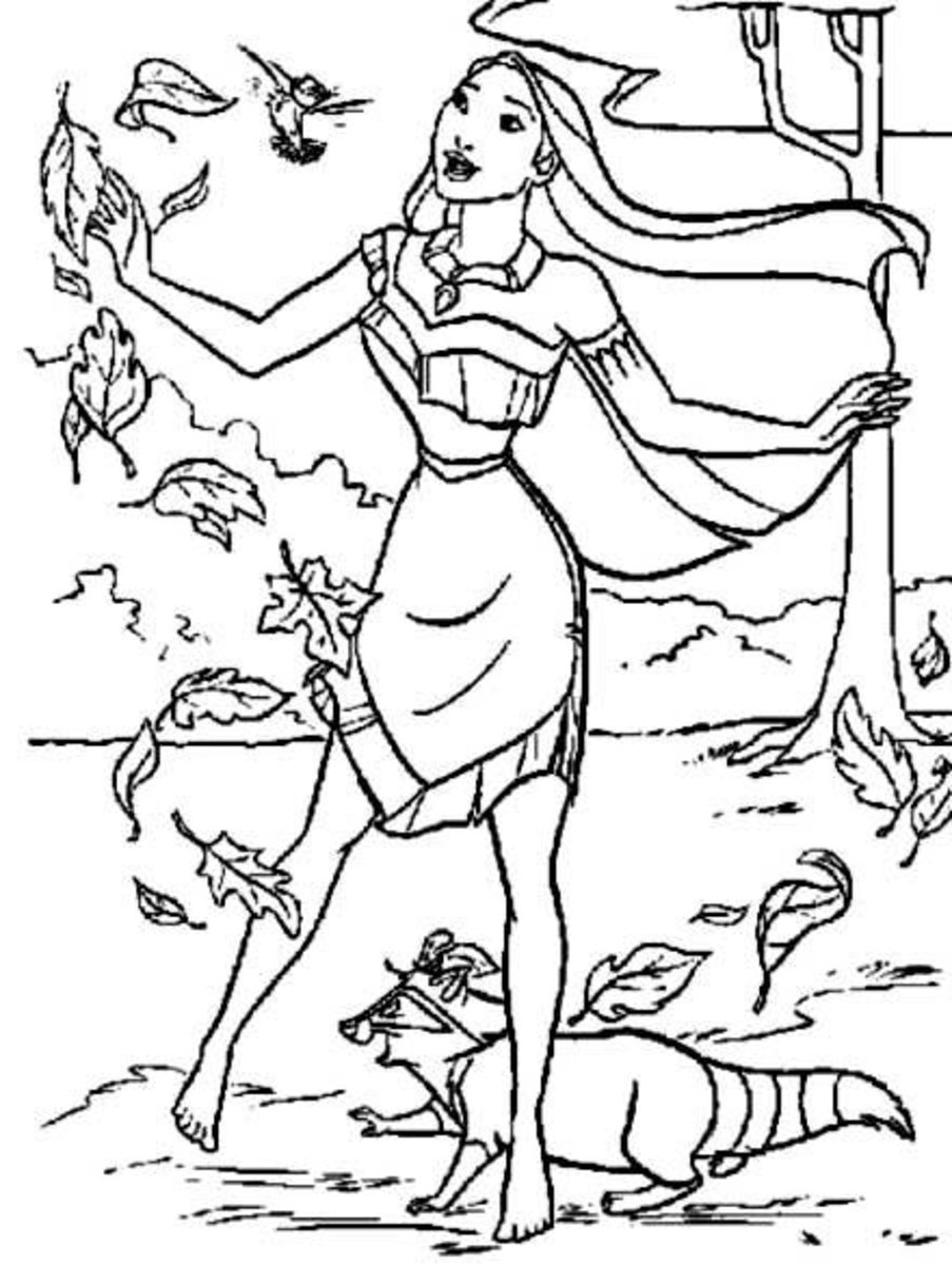 Homeschooling American History curriculum material. Pocahontas, James Town and Captain John Smith printable coloring pages for kids.