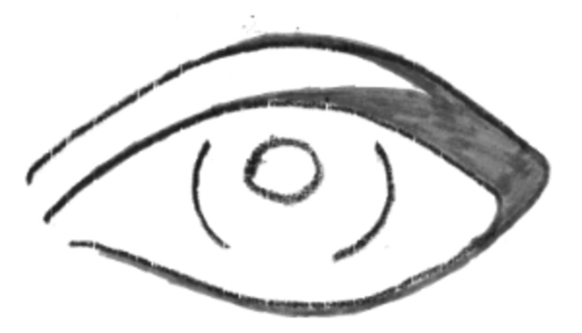 Eye shadow on a kohl base