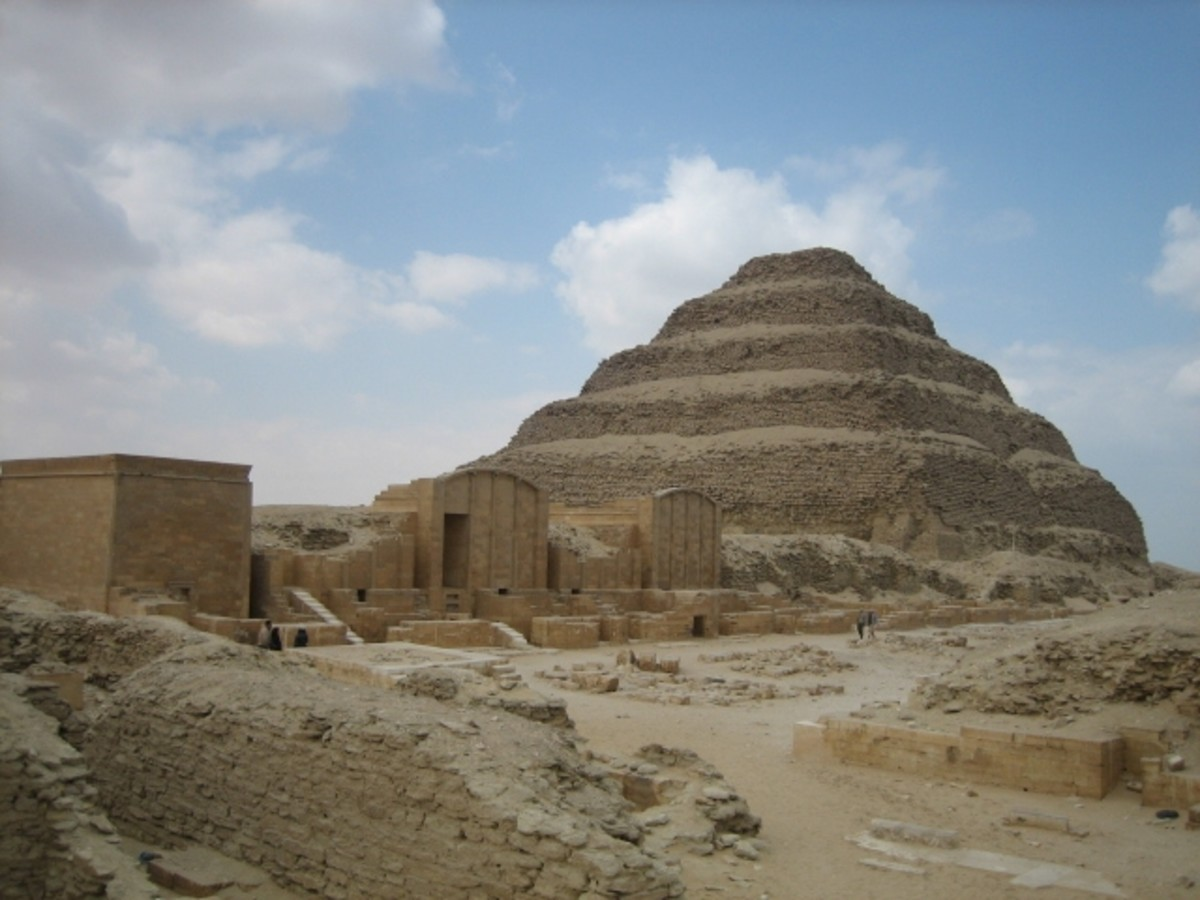 Pharaoh Djoser, Imhotep and the Step Pyramid at Saqqara