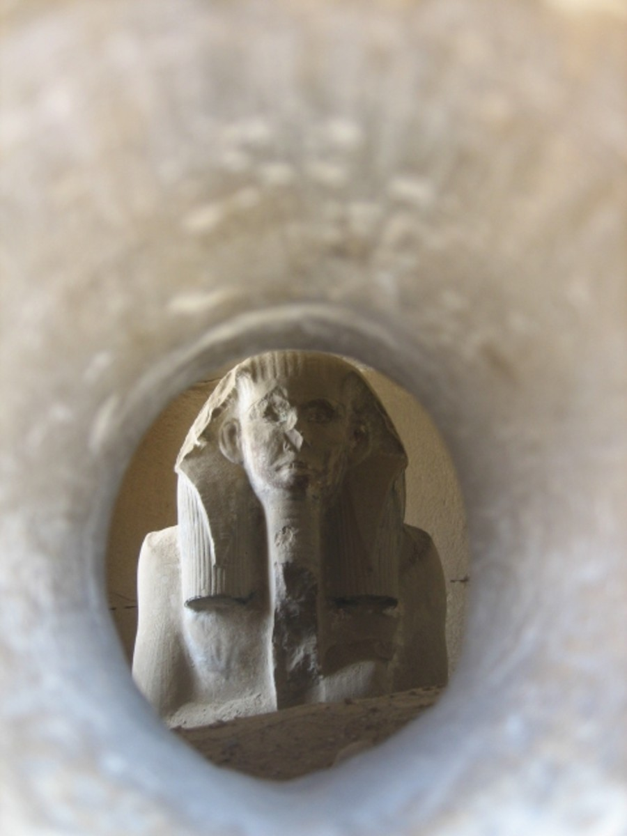 Copy of the statue of Djoser at Saqqara