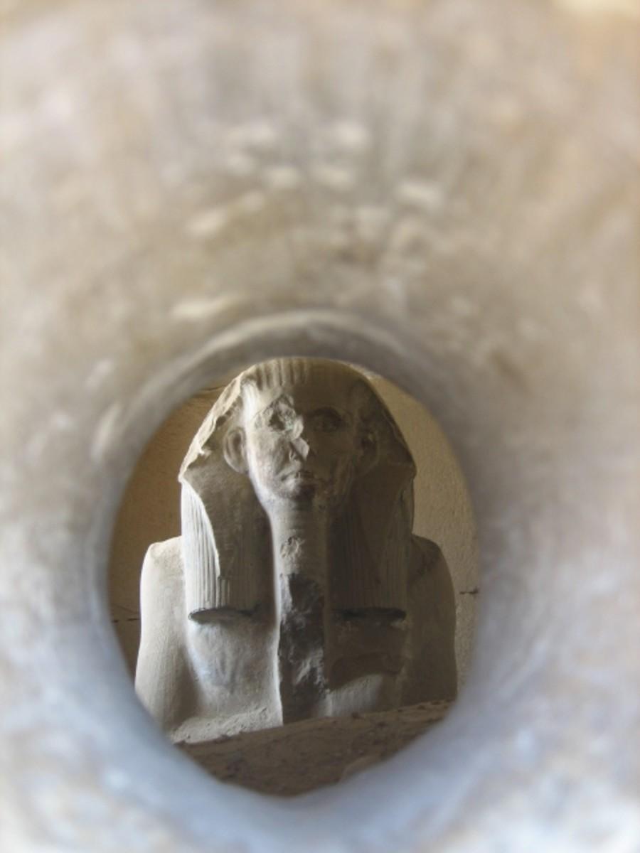 Copy of the statue of Djoser at Saqqara