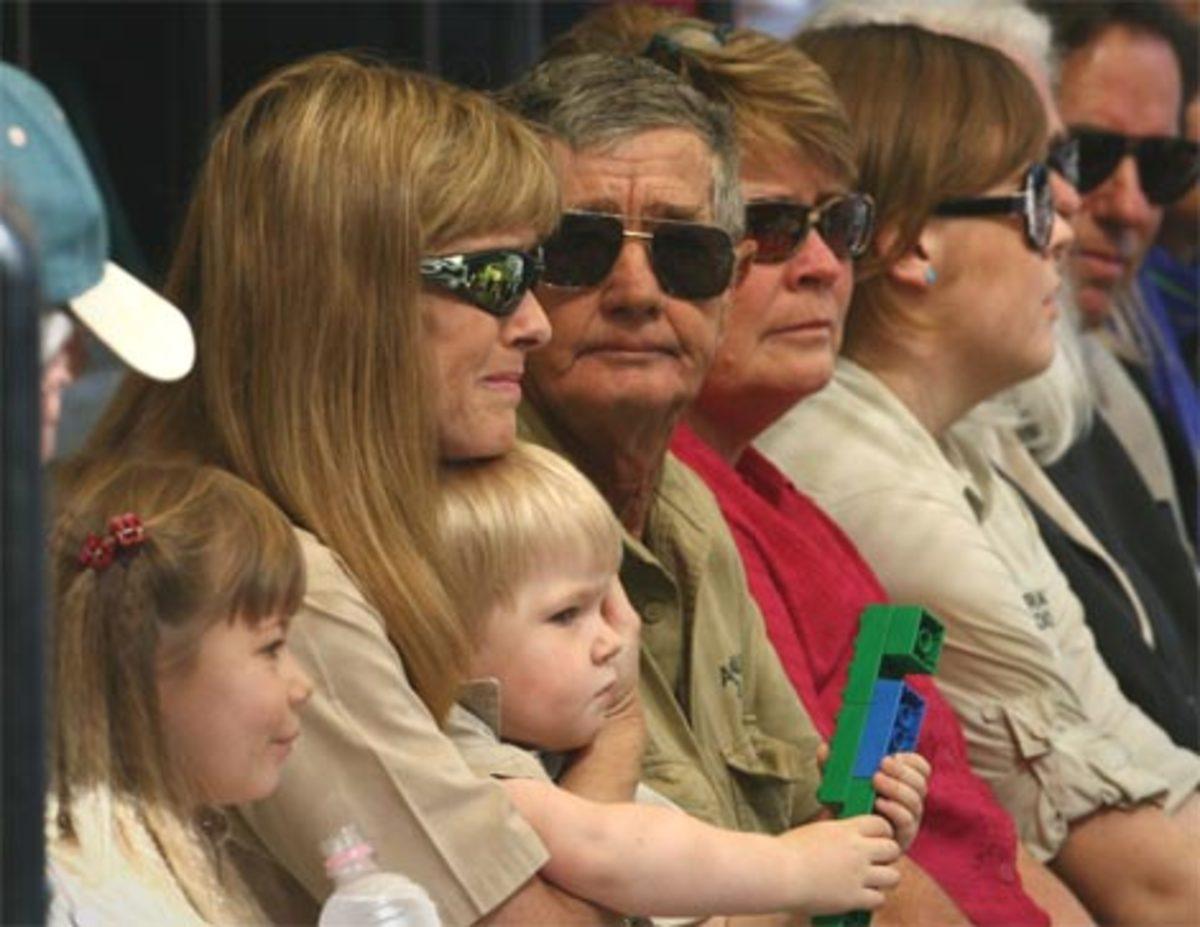 Bob, Terri, Bindi, Robert at the Memorial Service.