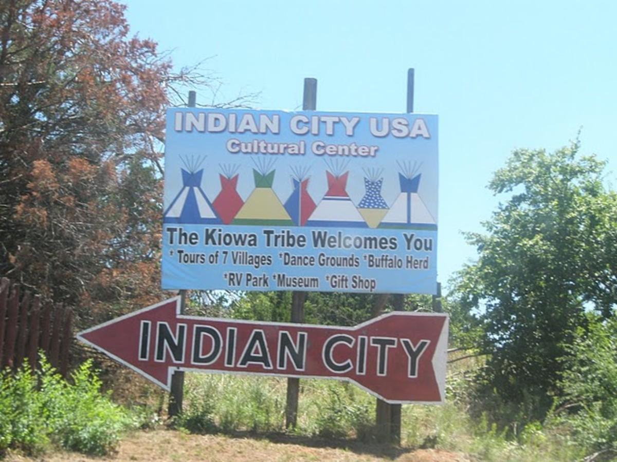 Anadarko Oklahoma Indian City Lodge Postcard | eBay