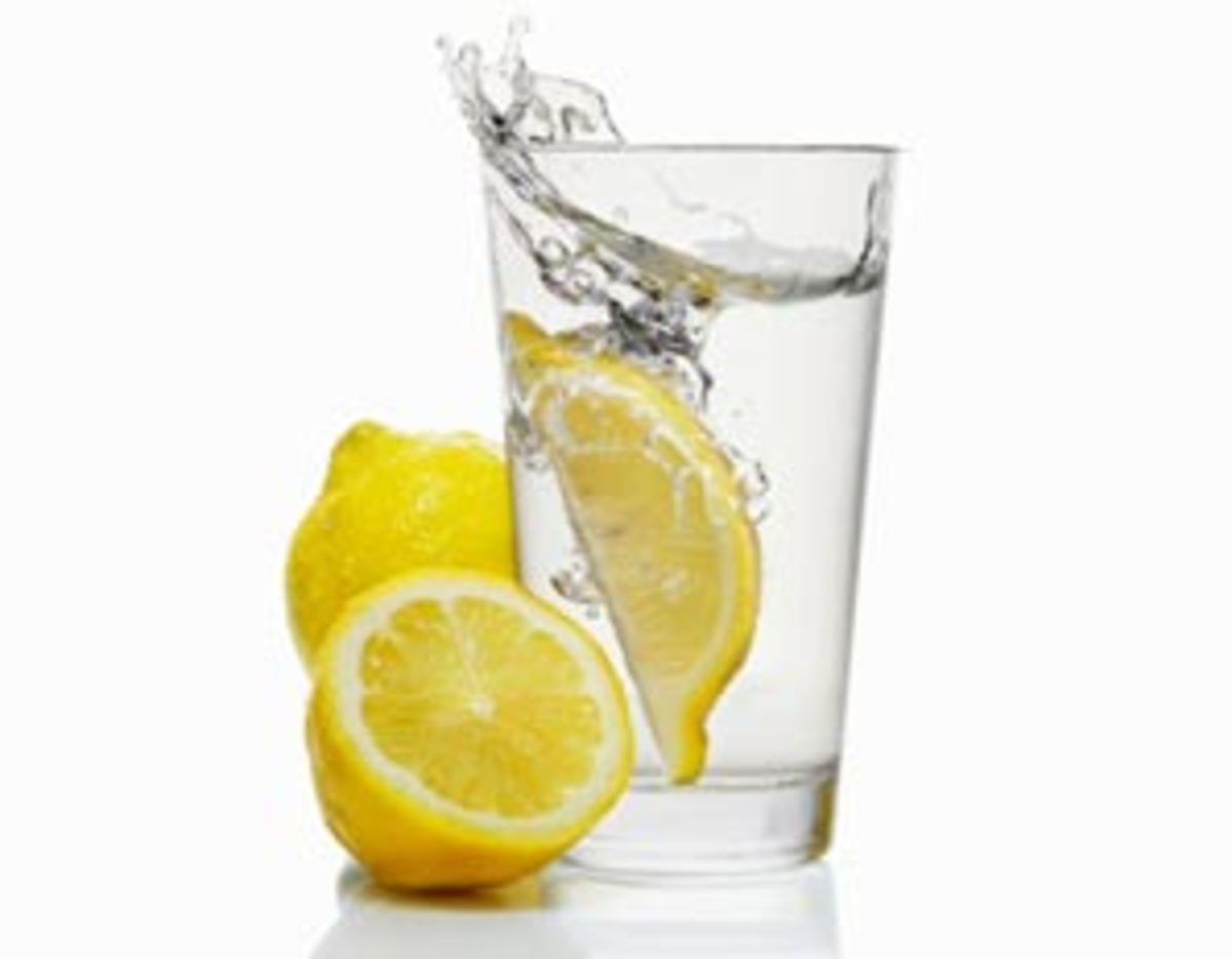 palate cleanser - water with lemon