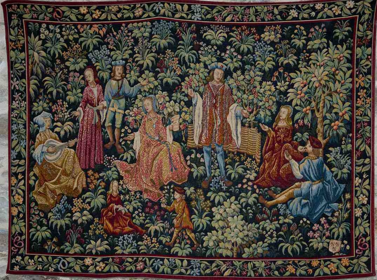 There are beautiful tapestries in the Castle