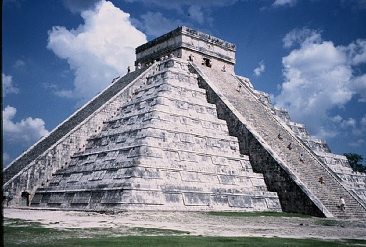 The Pyramid  lying at Chichen Itza
