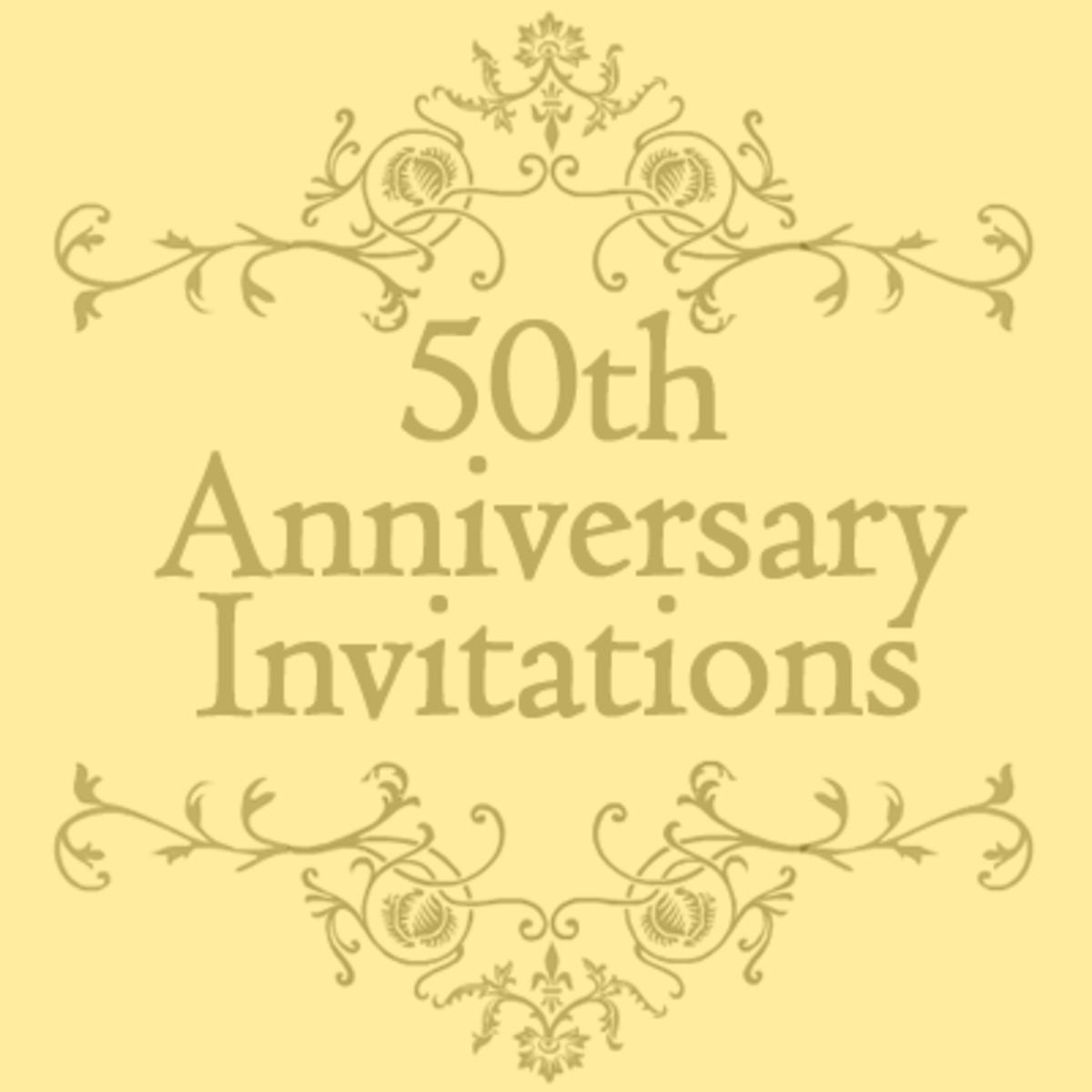 free 50th wedding anniversary invitations templates | hubpages, Invitation templates