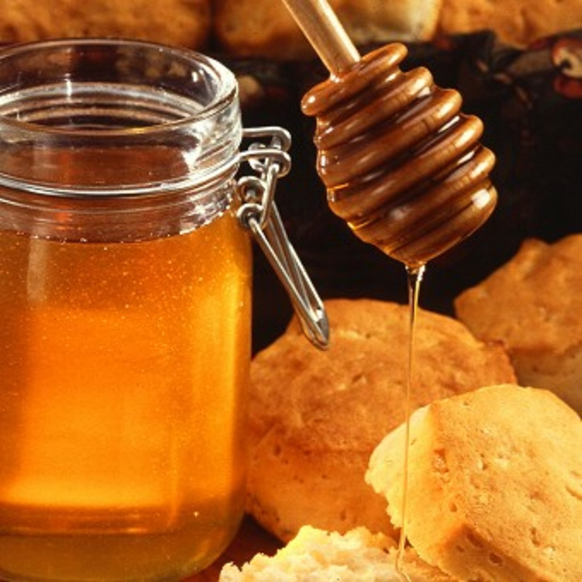 Honey is used in many foods as a sweetner
