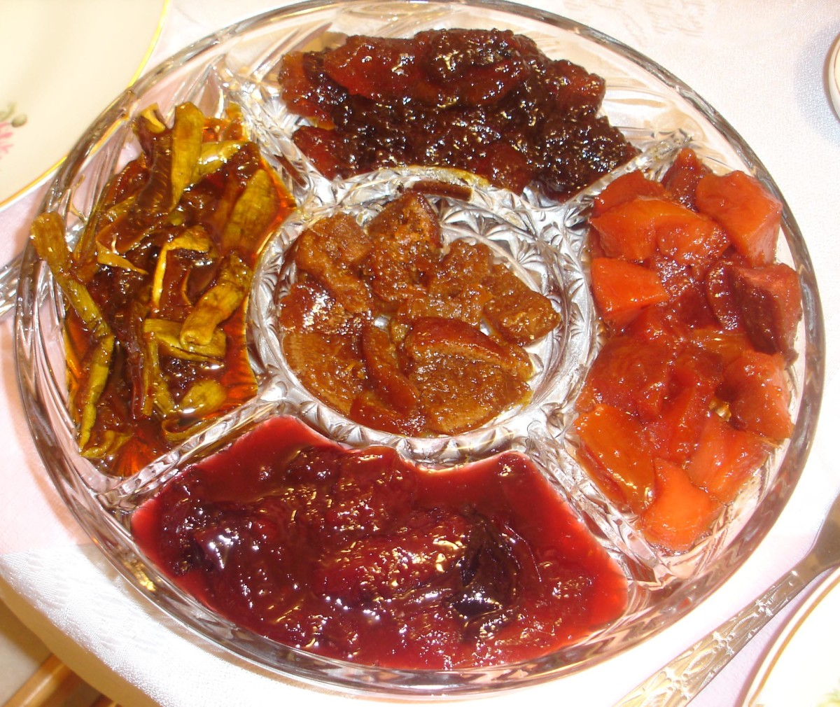 Pectin is used in jams as a gelling agent