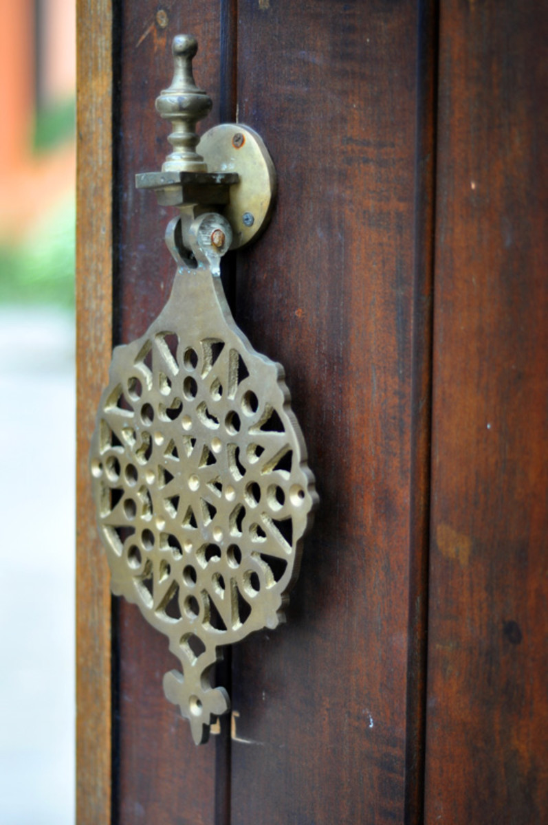 Handles and door knobs are imported from Morocco