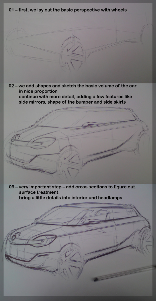 How to Draw Cars - A Sketch Tutorial