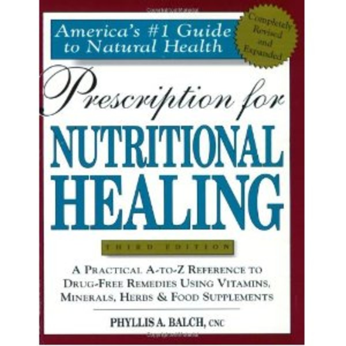 pic of Nutritional Healing book