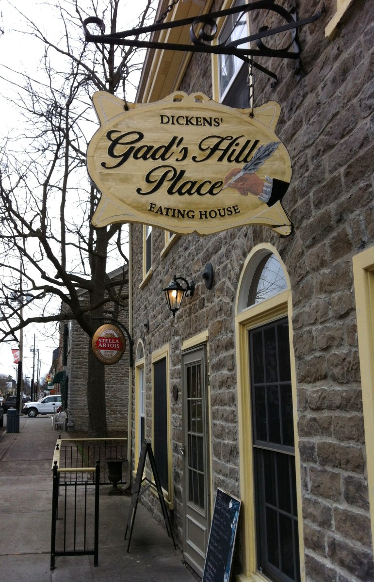 Gad's Hill, one of the many wonderful English style restaurants you will find in Merrickville.