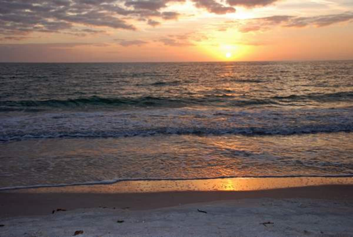 You will find beautiful Sunsets in Florida almost every day. This one was taken on St. Petersburg beach.