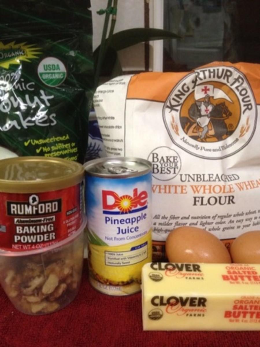 Ingredients for the Healthy Hawaiian Sweet Bread
