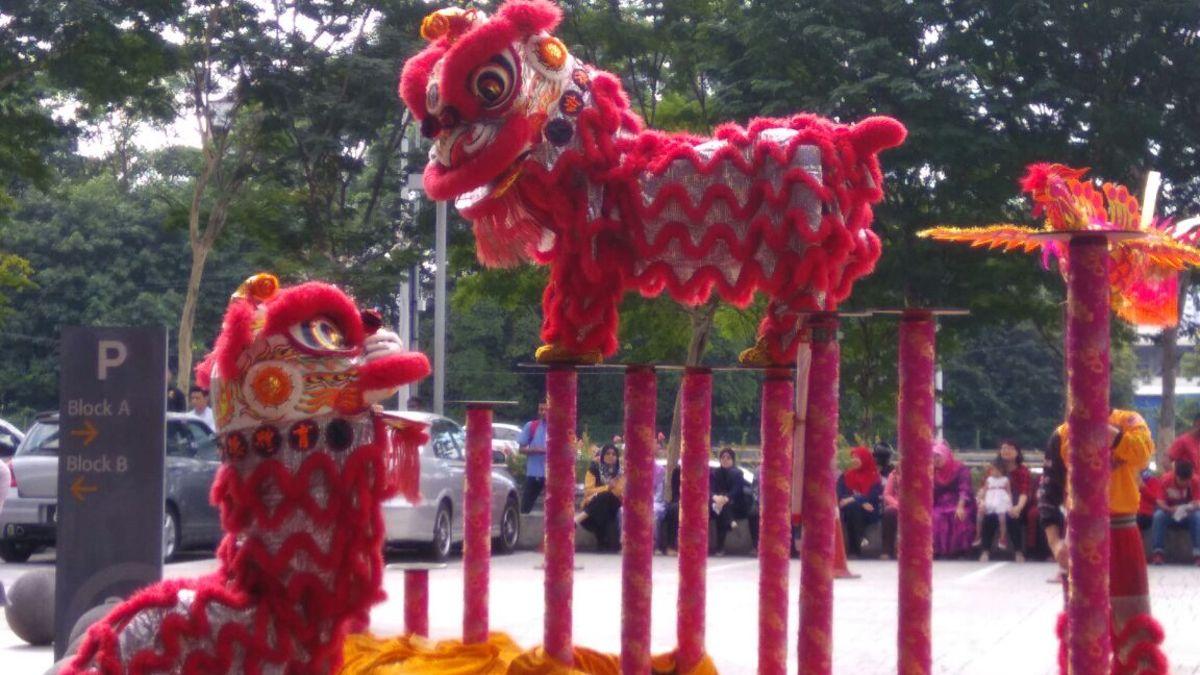 Lion dance display