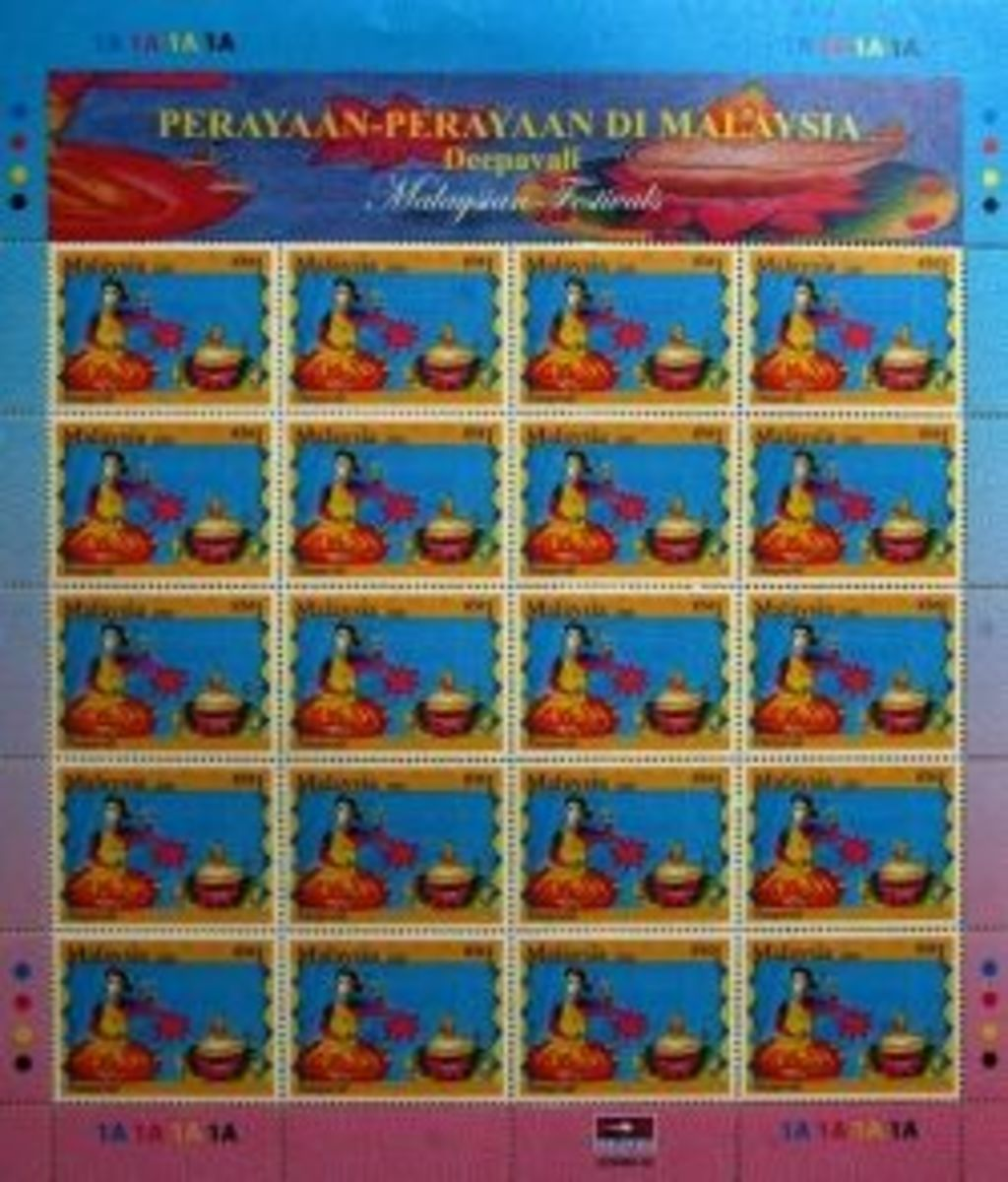 Malaysian festival stamp