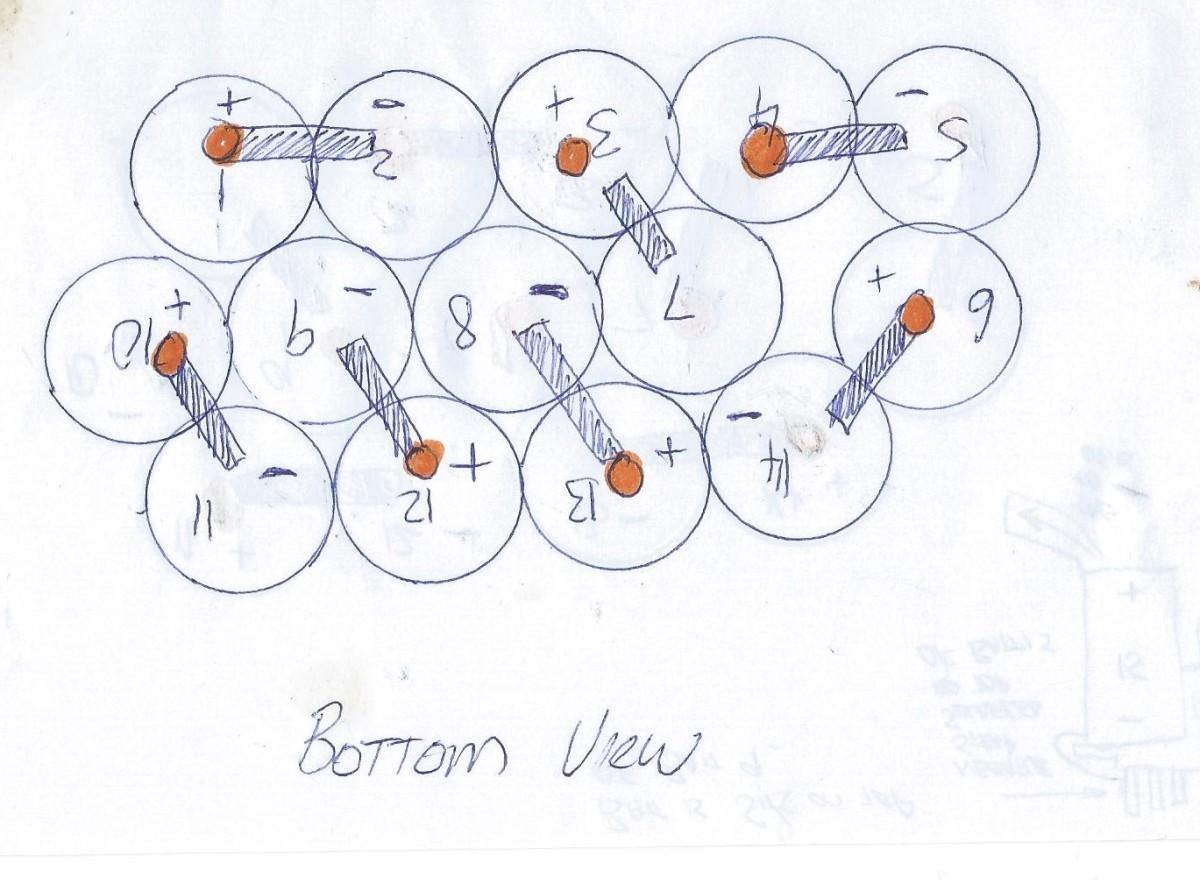 Diagram 2 - Bottom view diagram