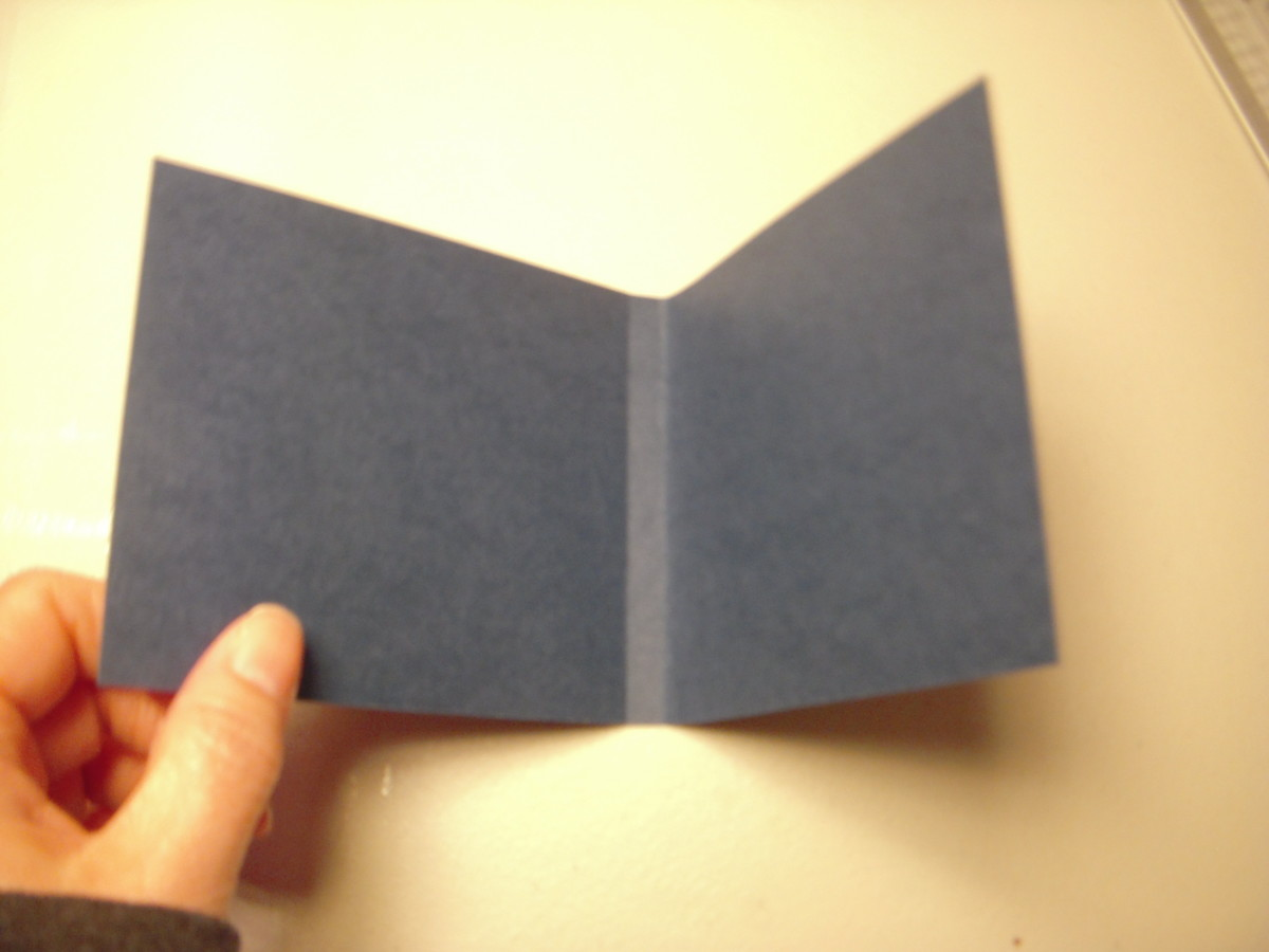 You will end up with a cover that is nicely folded to the correct spine-width to fit the paper.