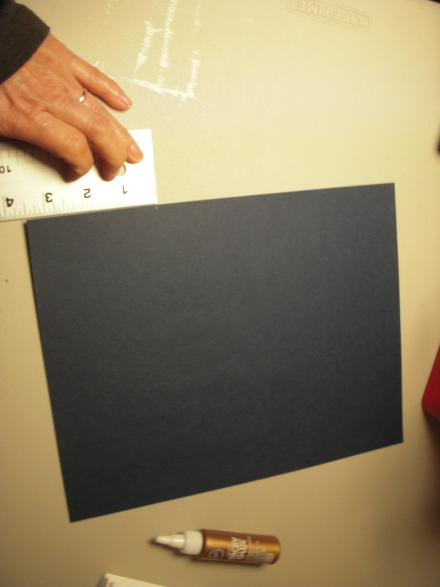"""Make a strip of cardstock 3.5"""" x8.5"""" long."""