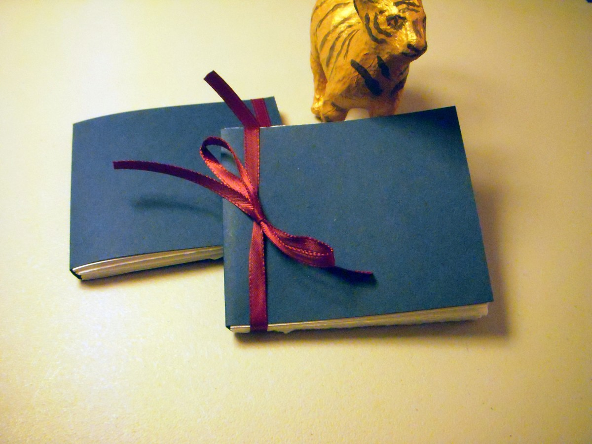 How To Make A Book Mini ~ How to make a sewing free paper book hubpages
