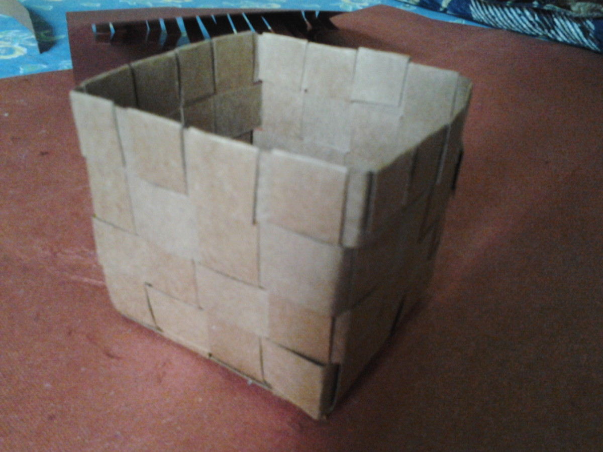 Best out of waste - Waste paper basket