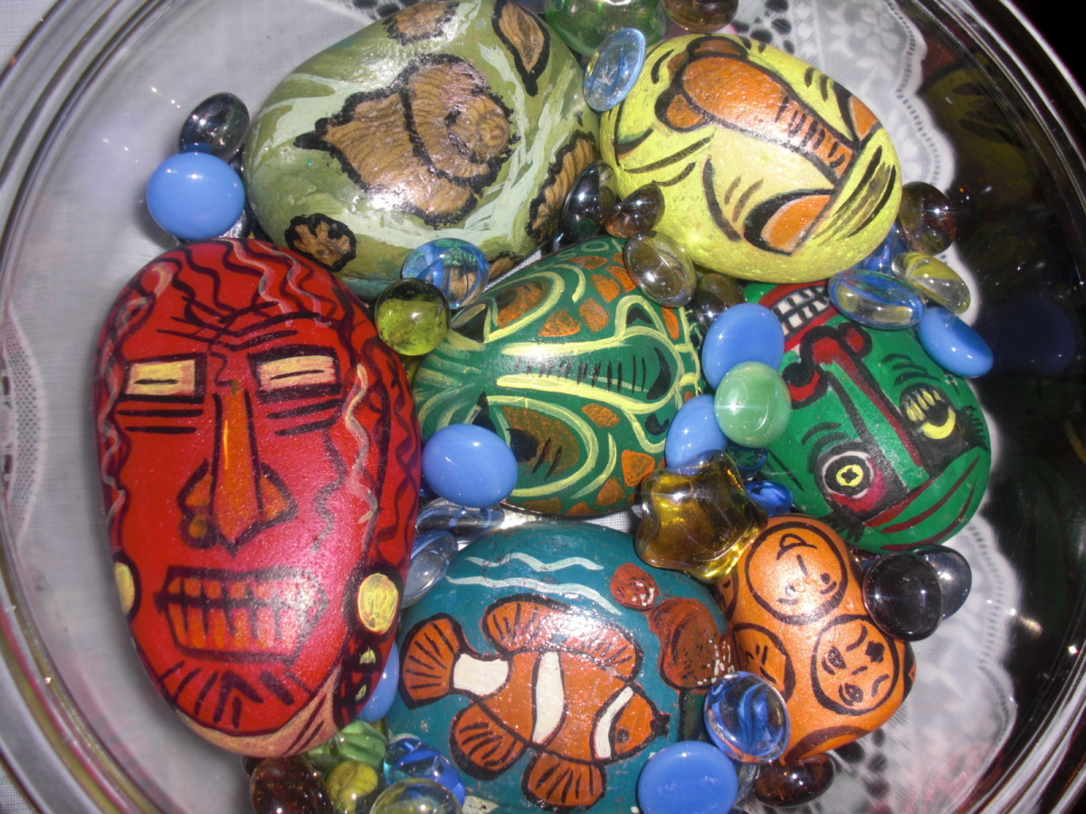 How to paint pebbles for Best out of waste ideas for class 5 in craft