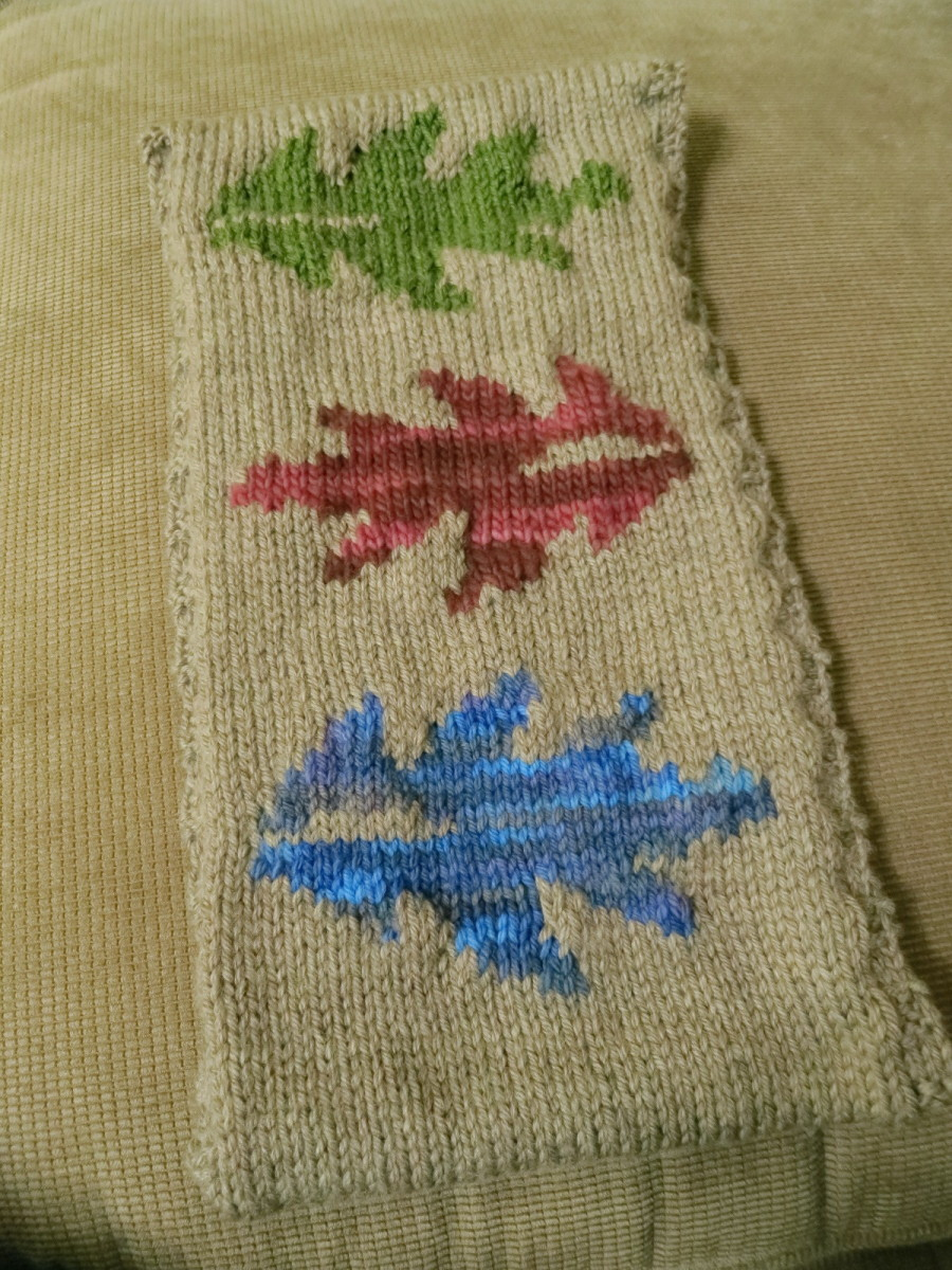 free knitting pattern for changing leaves scarf