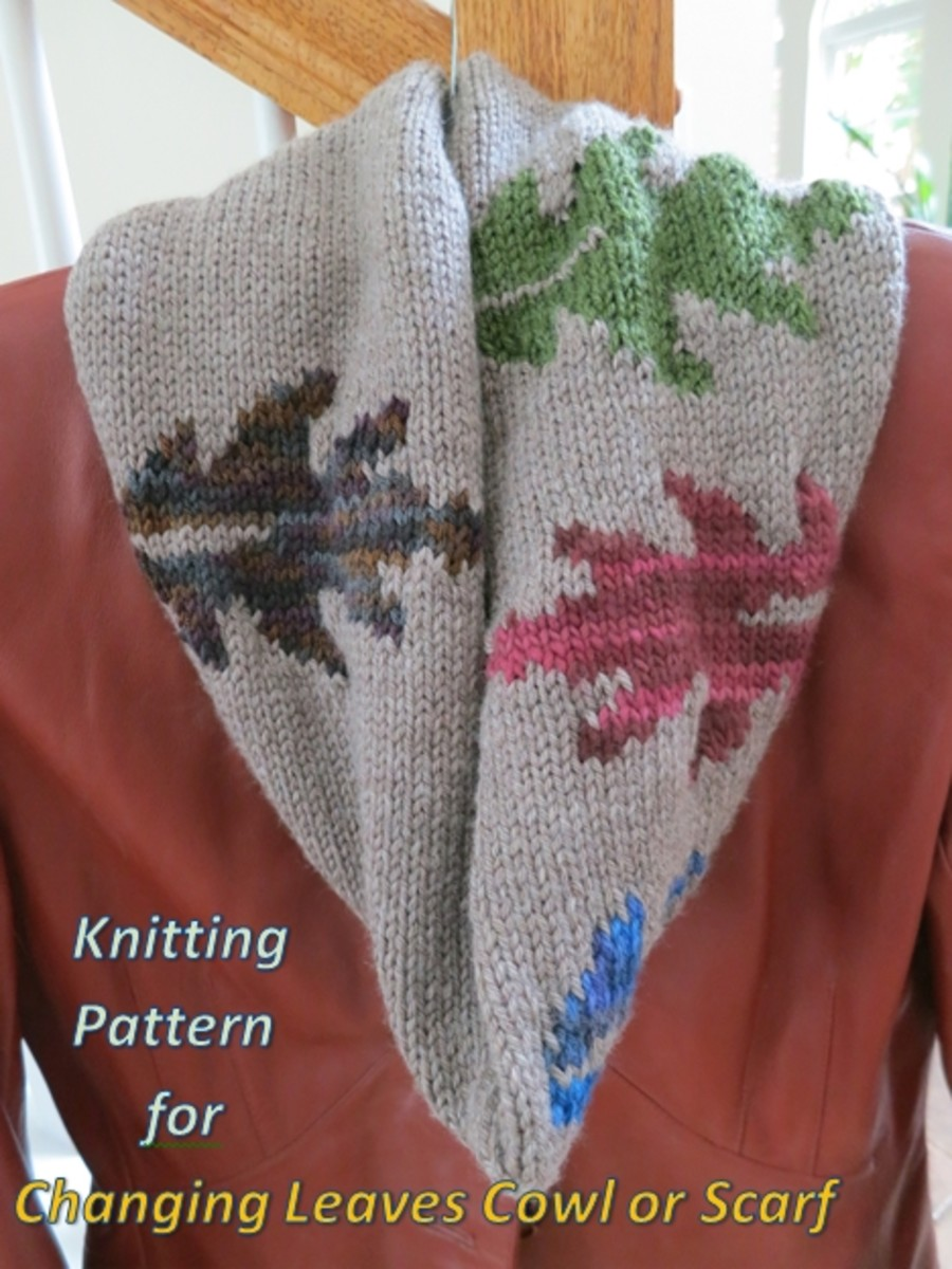 Free Knitting Pattern:  Changing Leaves Cowl or Scarf