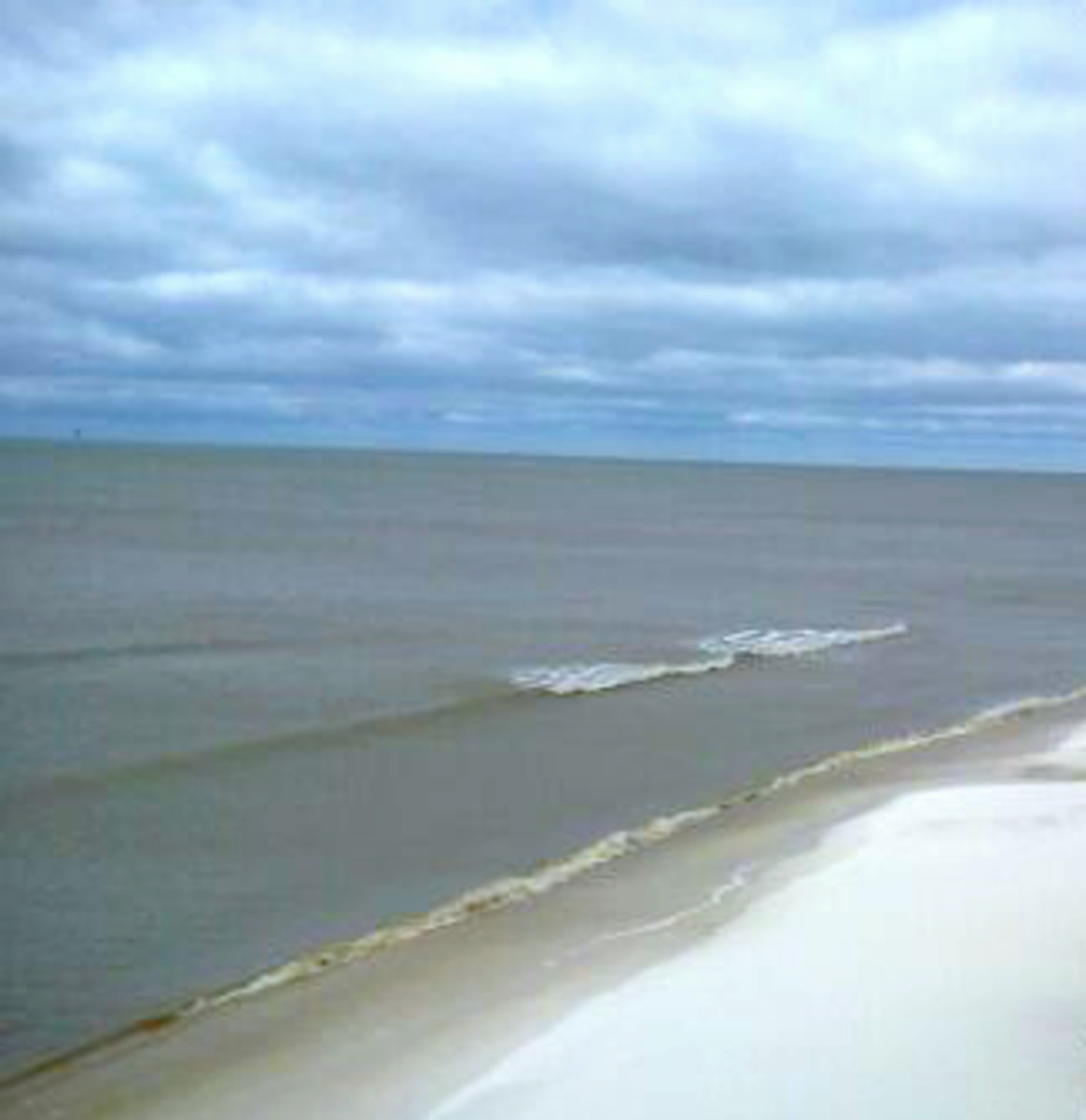 Dauphin Island on a cloudy day