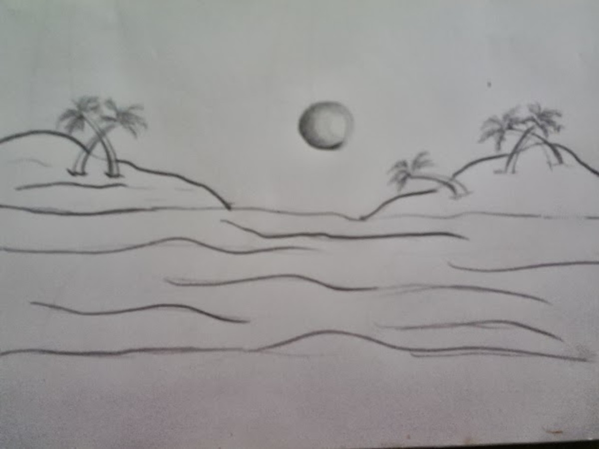 20 how to draw trees instructions for kids step by step for Easy landscape drawings step by step