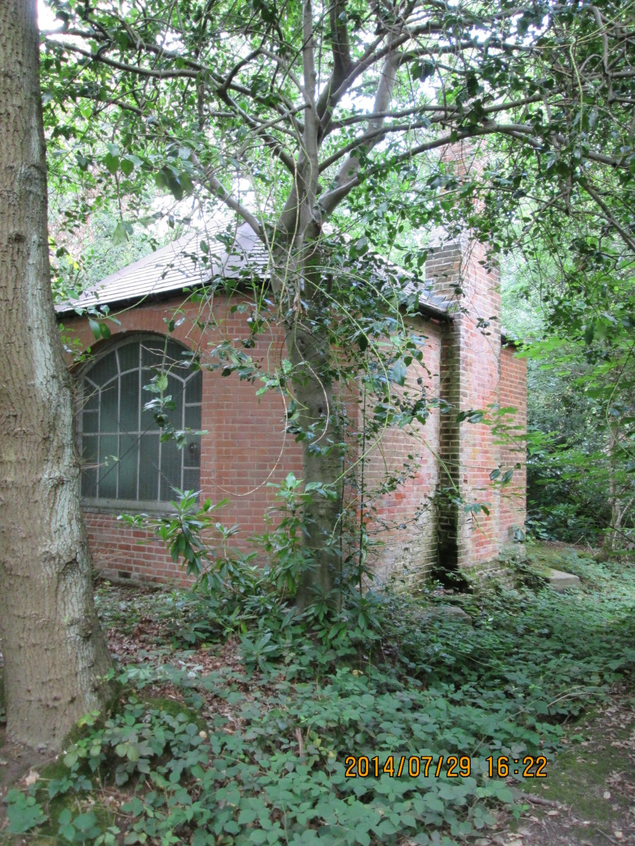 ...the off-side with a lean-to chimney (?) Think of the horror stories you could build around this. Location: near High Beech, Epping Forest and remember, you saw it here first.