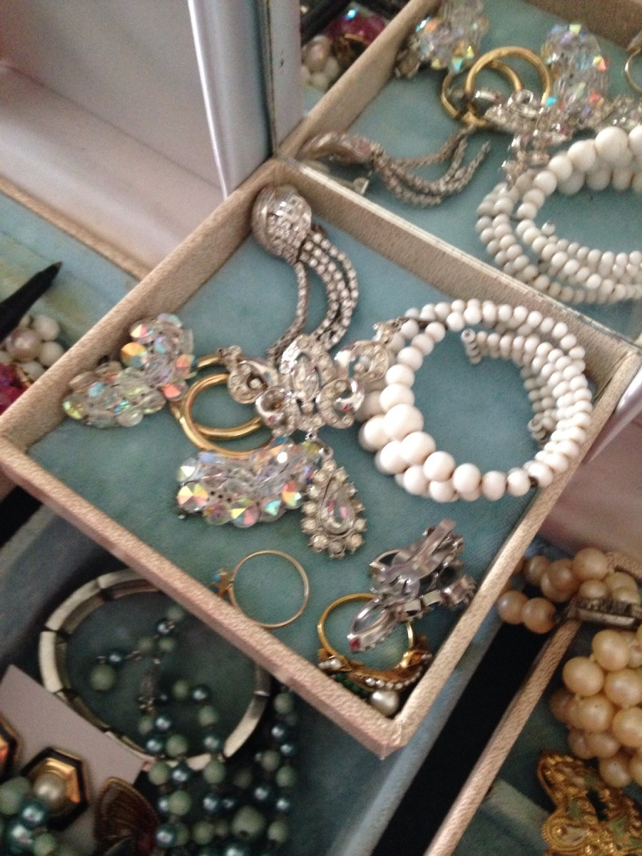 Vintage jewelry is a great selling item on Ebay.  Get clear, well lit photos of your items and know which keywords get buyers drooling.