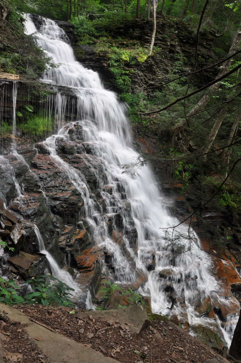 The 94-foot Ganoga Falls is the highest of 22 named waterfalls.
