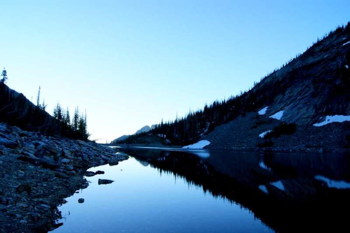 Mountain lake, Bitterroot Mountains, Montana