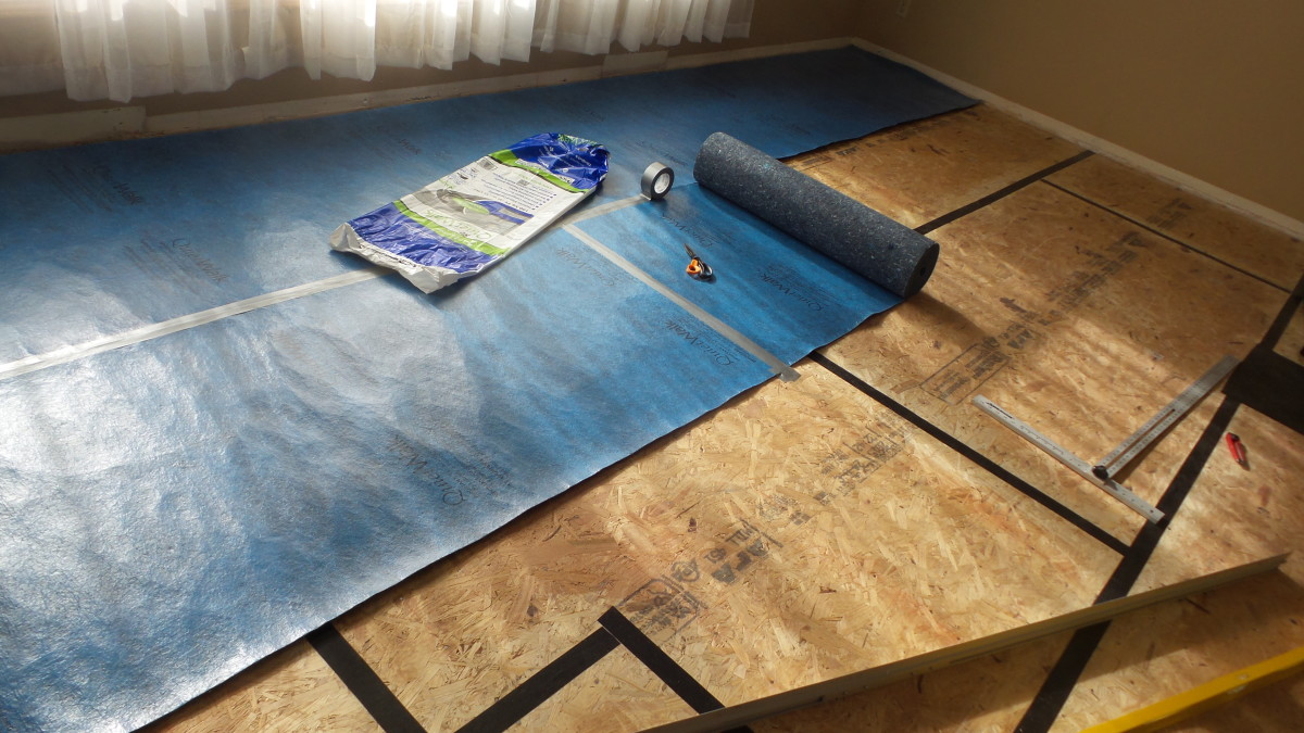 Your underlayment should have a high quality vapor barrier.