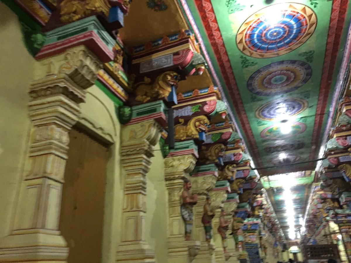 Interior of Ramanathaswamy temple