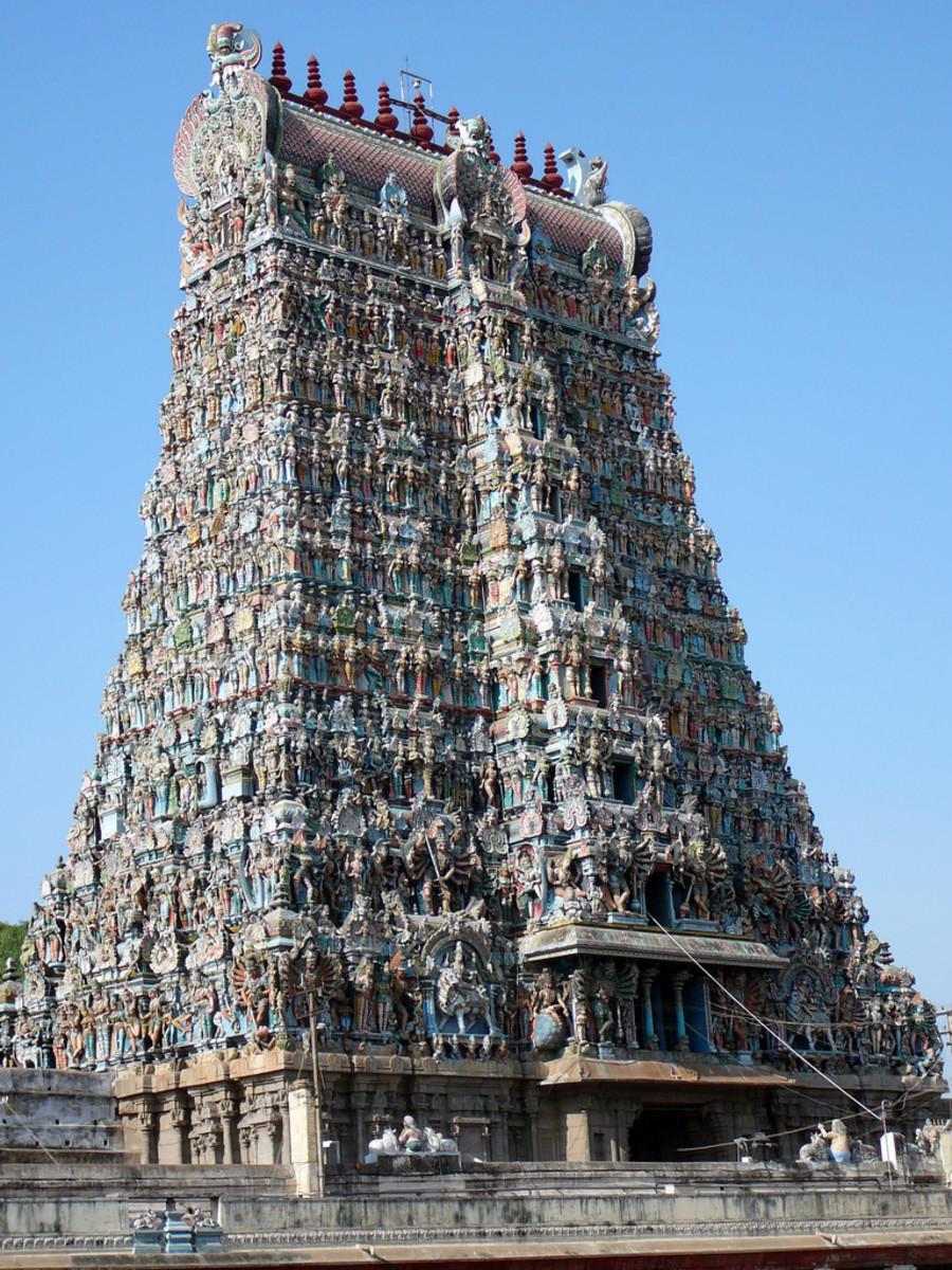 meenakshi temple tower