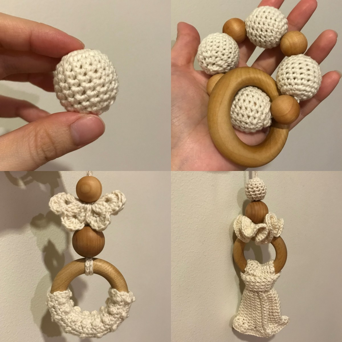 Wooden Teething Rings with Beads