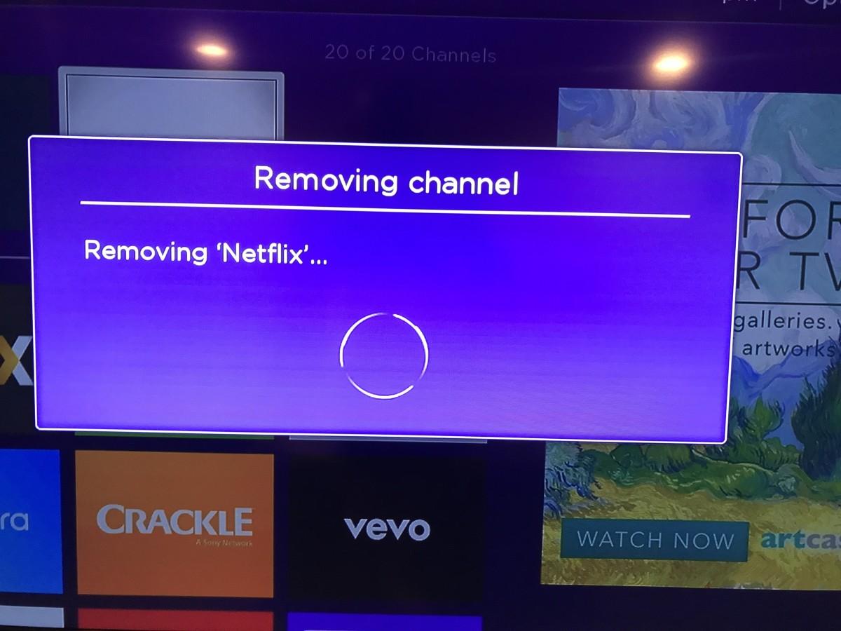 "Choose ""Remove Channel."""