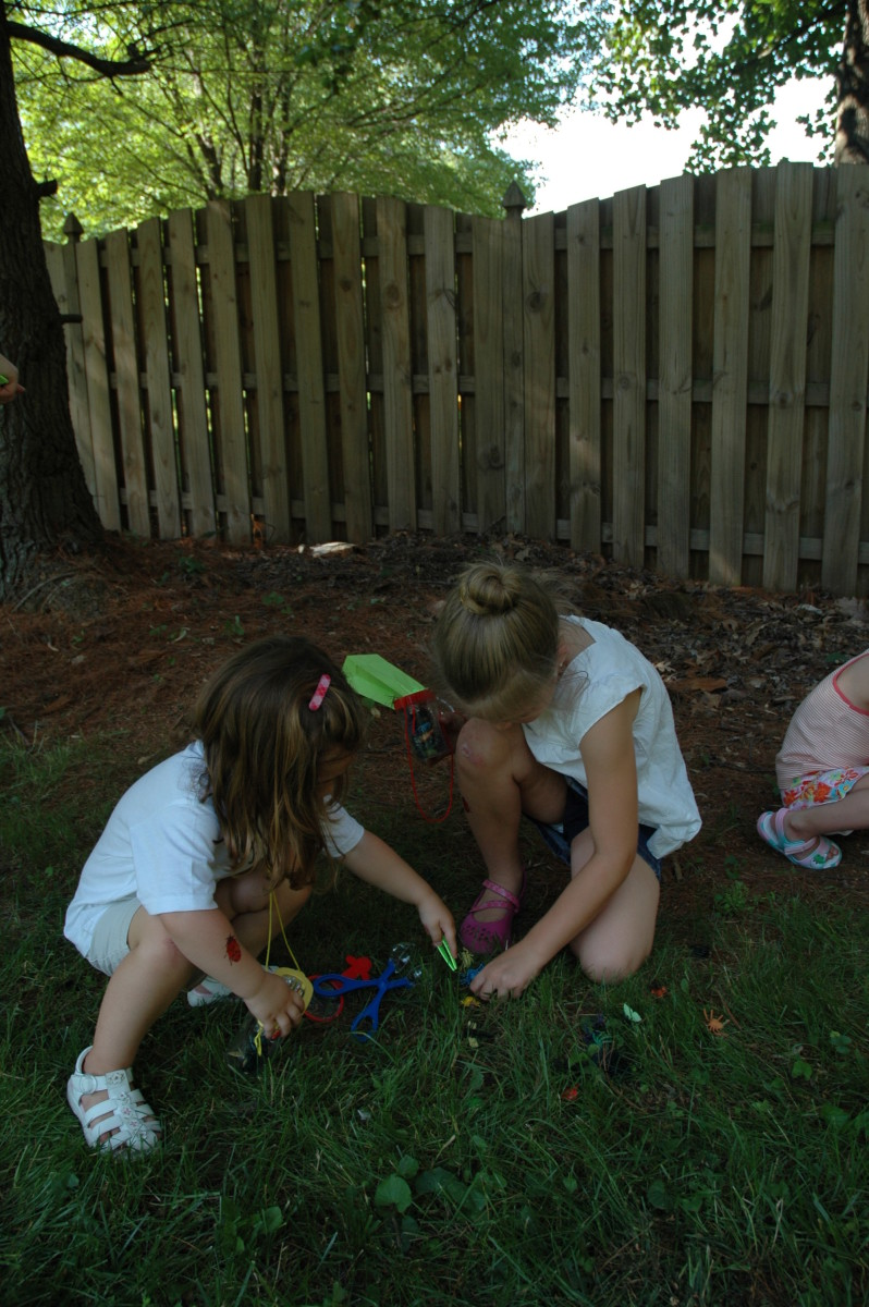 The kids LOVED the bug hunt!