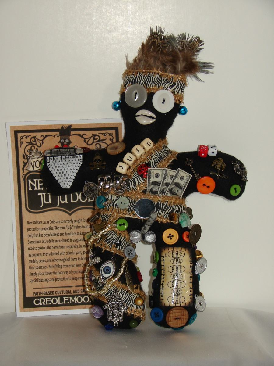 New Orleans style Ju Ju Doll for good luck.