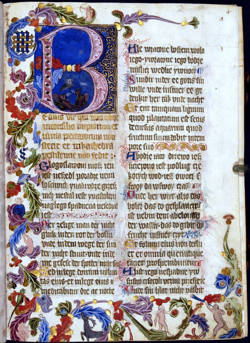 """A leaf from the """"Sankt Florian Psalter."""""""