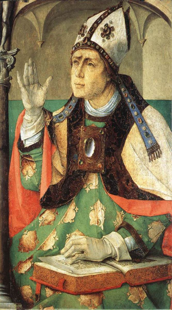 Painting of St. Augustine of Hippo by Justus van Gent, circa 1474