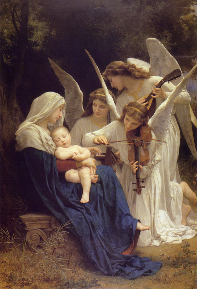 Mary, Jesus, and Angels