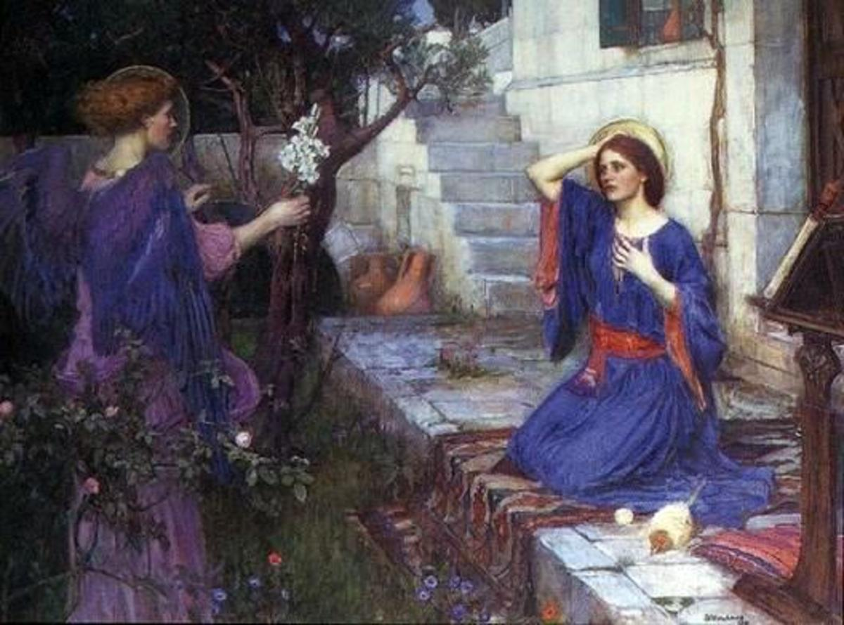 The Annunciation by John William Waterhouse, 1914 (wikimedia commons)